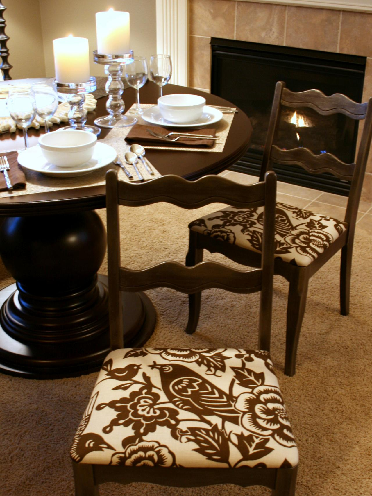 Image of: pretty dining chair cushions