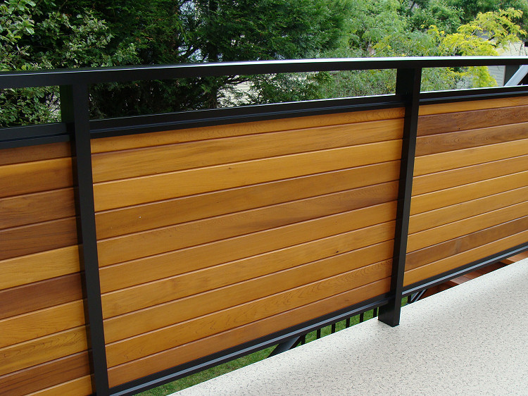 Image of: Privacy Deck Railing Brown