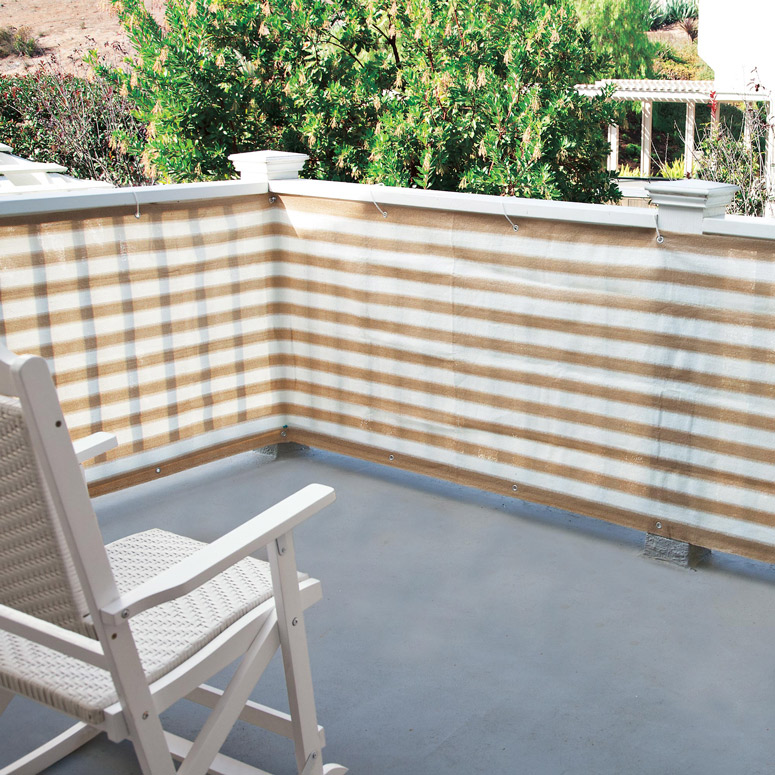 Image of: Privacy Deck Railing Patio