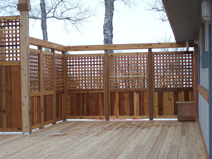 Image of: Privacy Deck Railing Plans