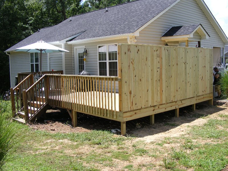 Image of: Privacy Deck Railing Small
