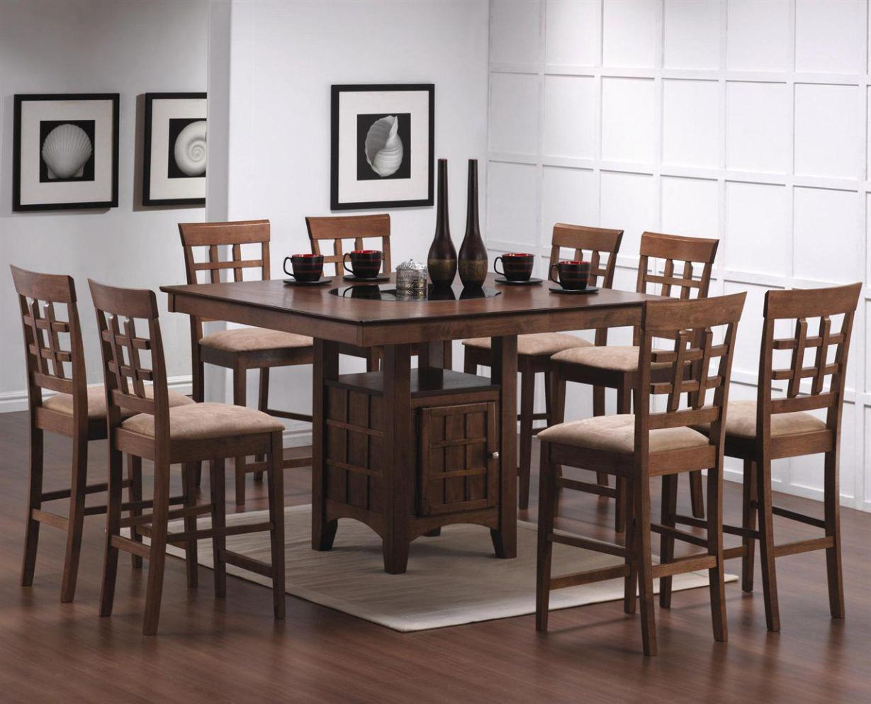 Image of: Pub Style Dining Sets For 8