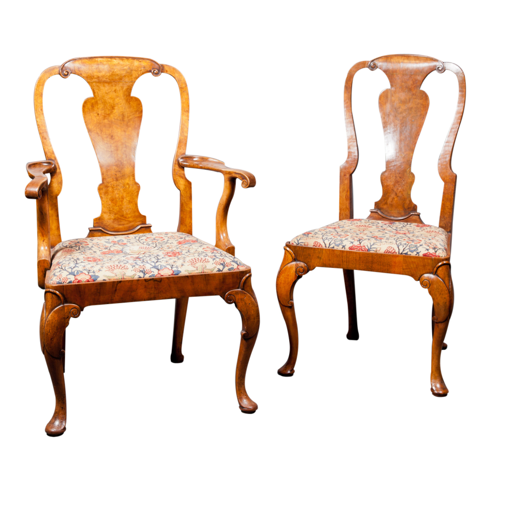 Image of: Queen Anne Dining Chairs Design