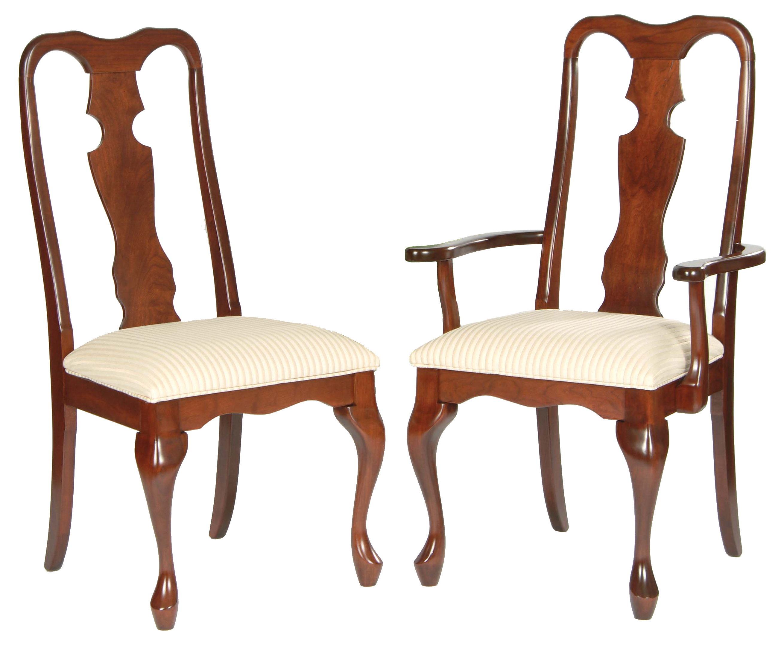 Image of: Queen Anne Dining Chairs Furniture