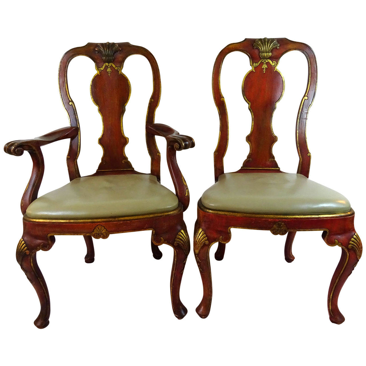 Image of: Queen Anne Dining Chairs Style