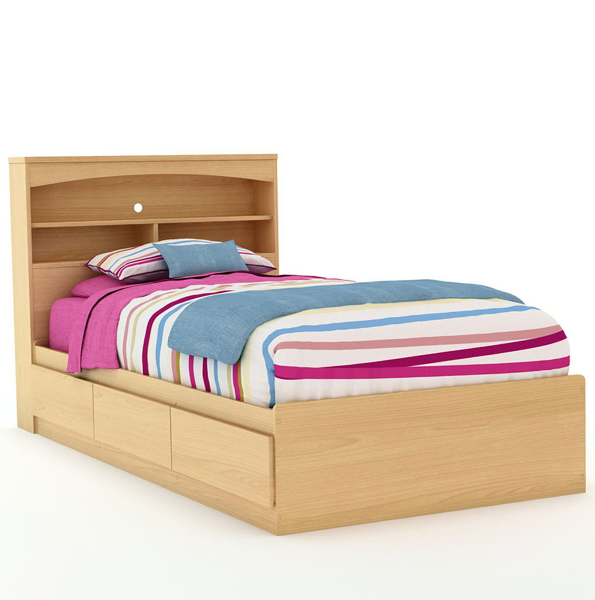 Image of: Queen Bookcase Headboard Style