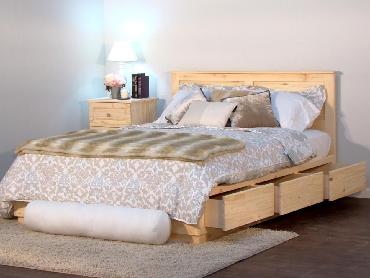 Image of: Queen Size Captains Bed With Drawers