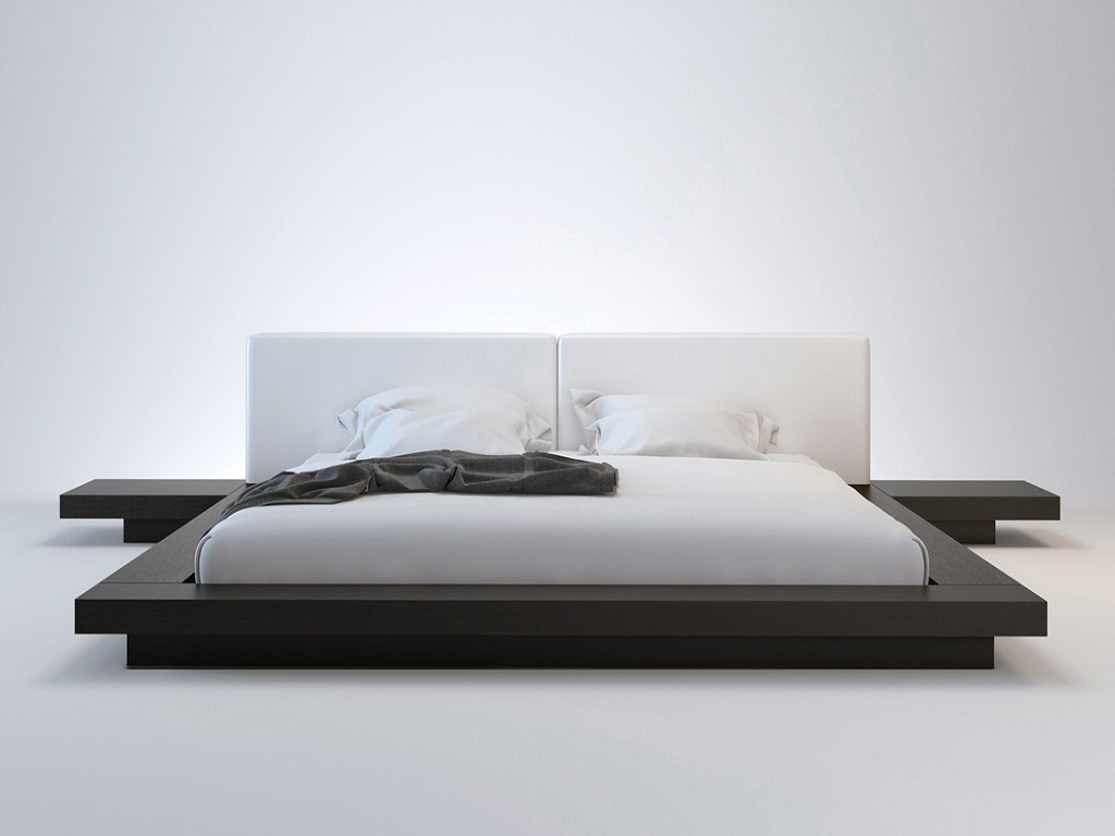 Image of: Queen Size Platform Bed And Mattress
