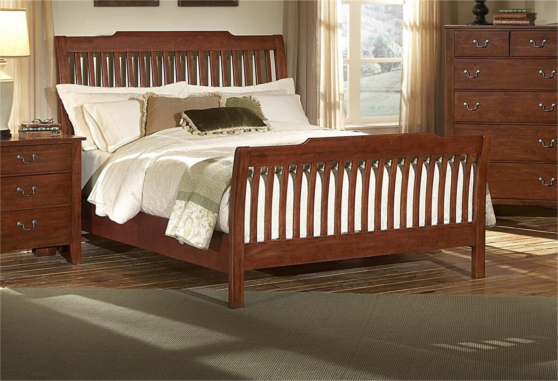 Image of: Queen Sleigh Bed Frame