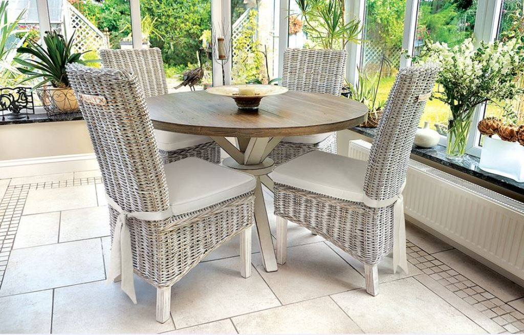 Image of: rattan dining chairs pottery barn