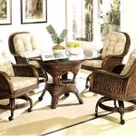 rattan dining chairs with cushions