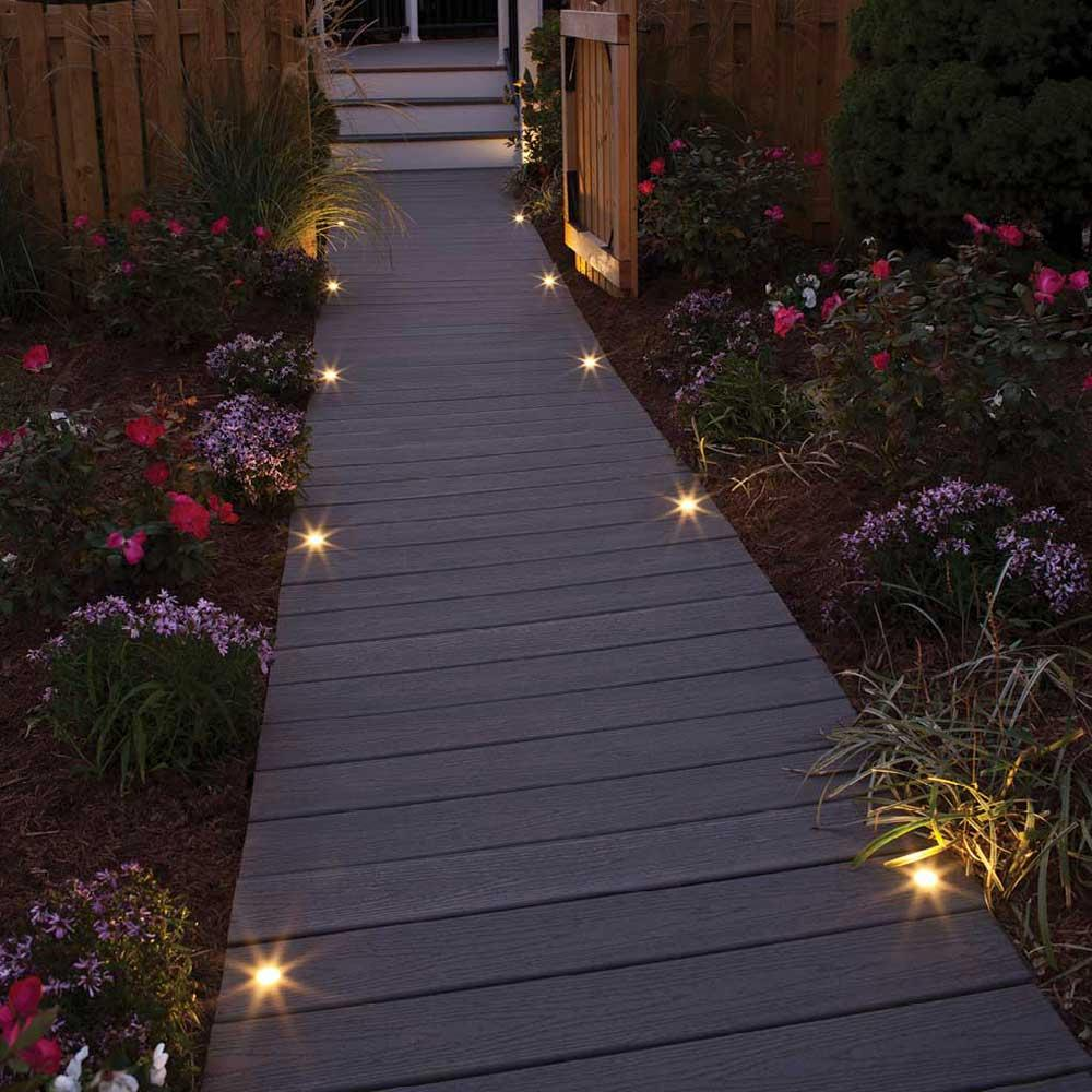 Image of: Recessed Deck Lighting Colors