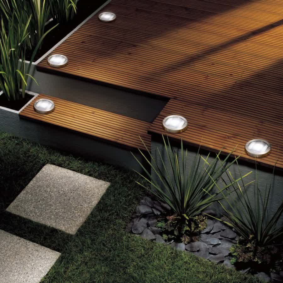 Image of: Recessed Deck Lighting Home