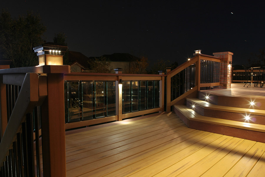 Image of: Recessed Deck Lighting Stair