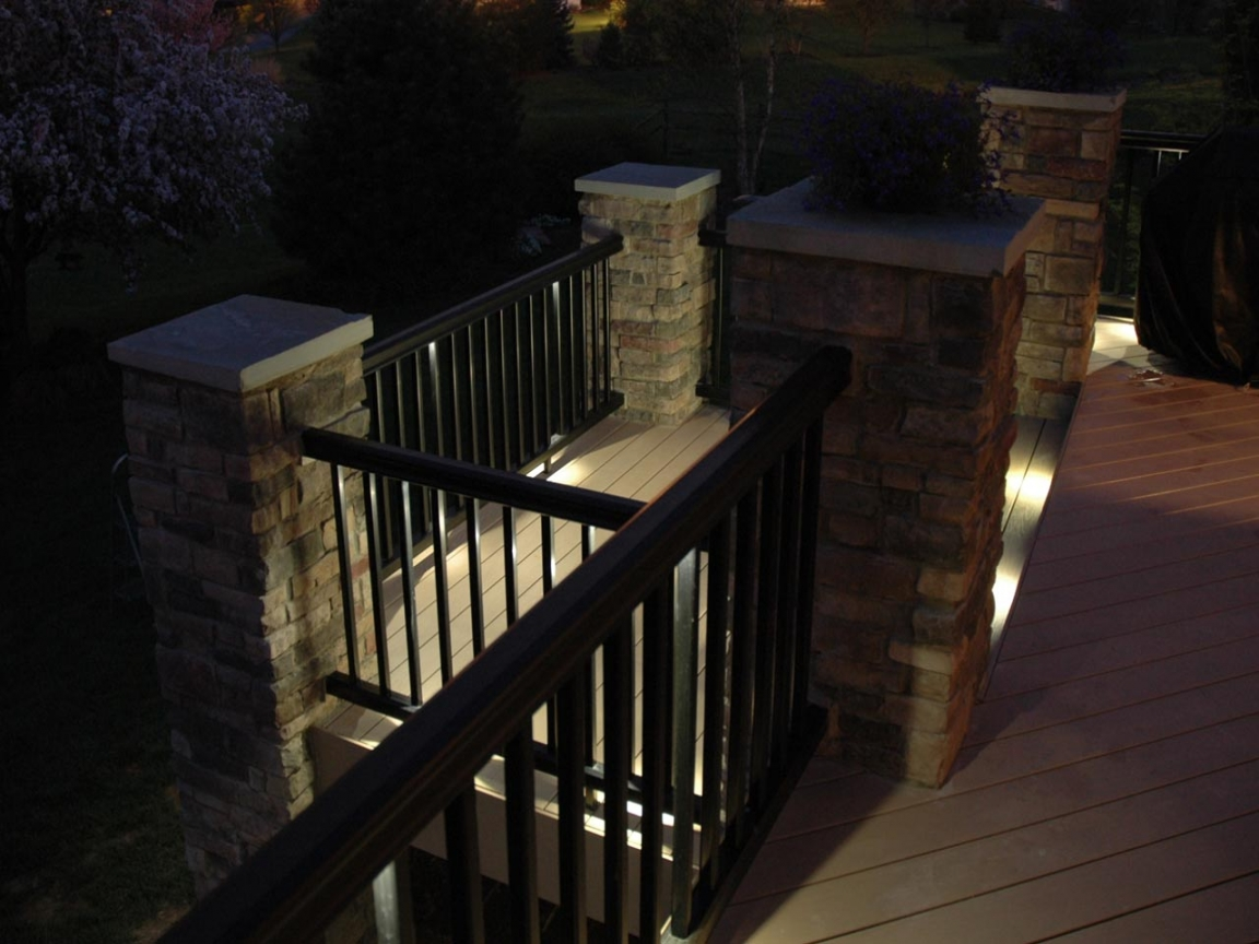 Image of: Recessed Deck Lighting Type