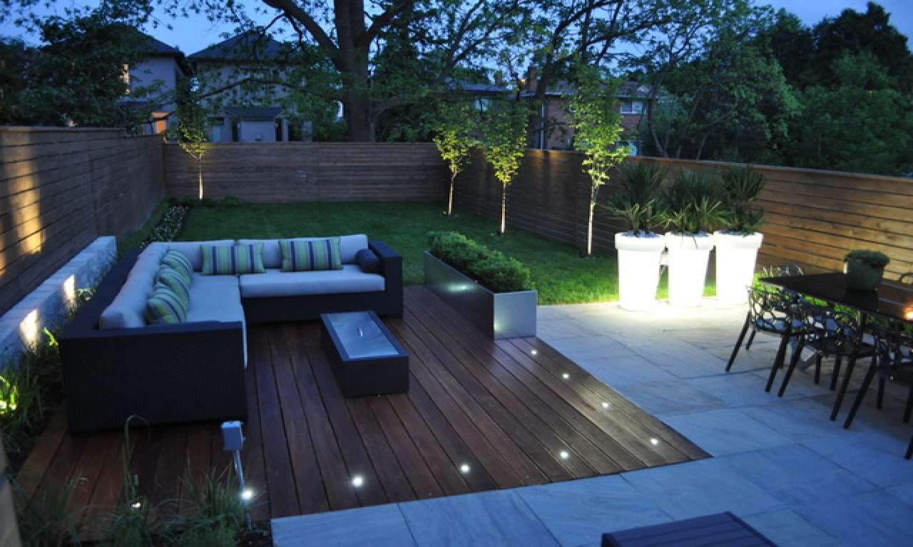 Image of: Recessed Deck Lighting and Decor