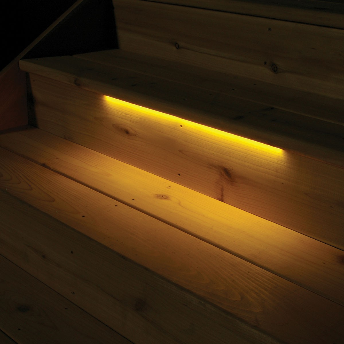 Image of: Recessed Deck Lighting