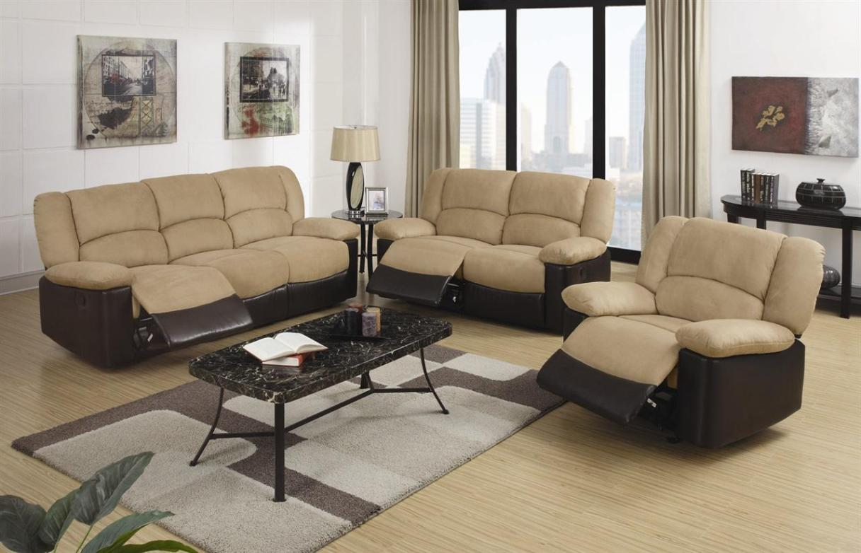 Image of: Recliner And Sofa Set