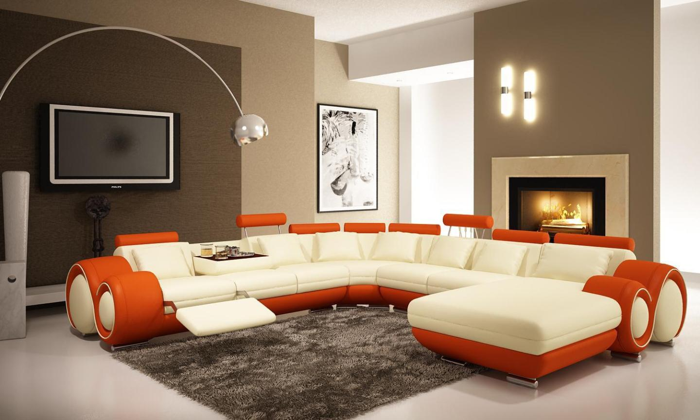 Image of: Recliner Couch Modern