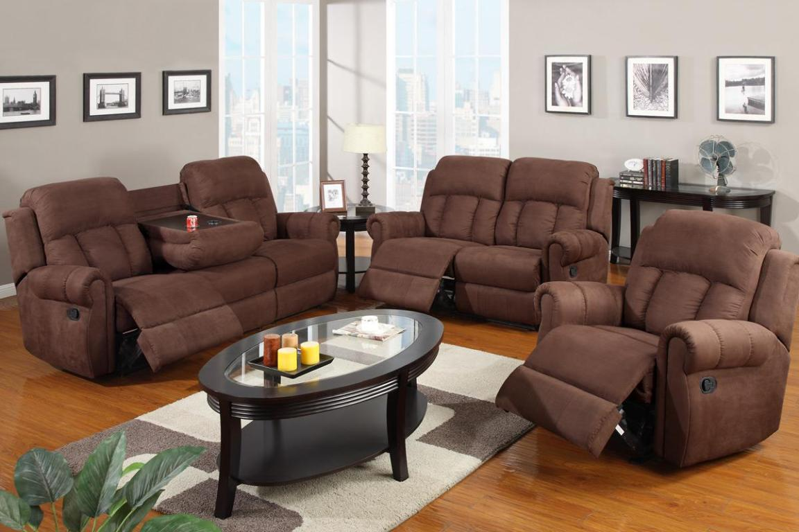 Image of: Recliner Couch With Cup Holder