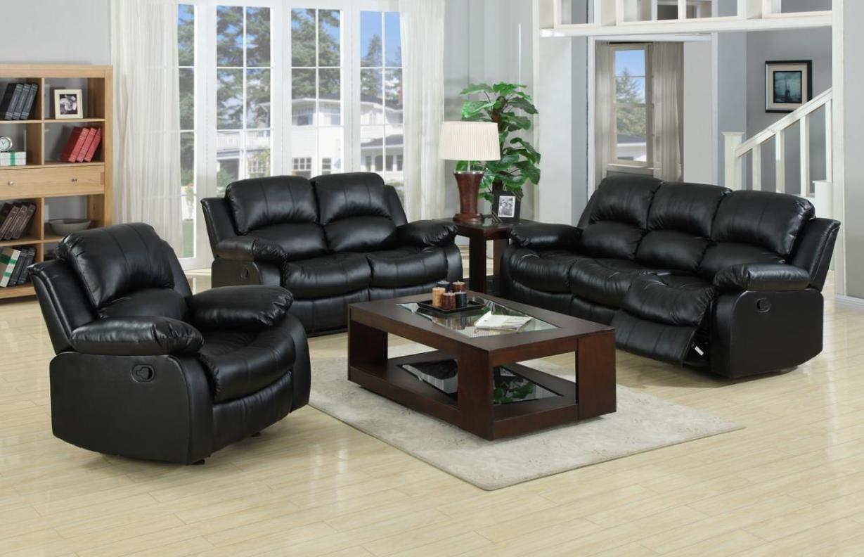 Image of: Recliner Leather Couch