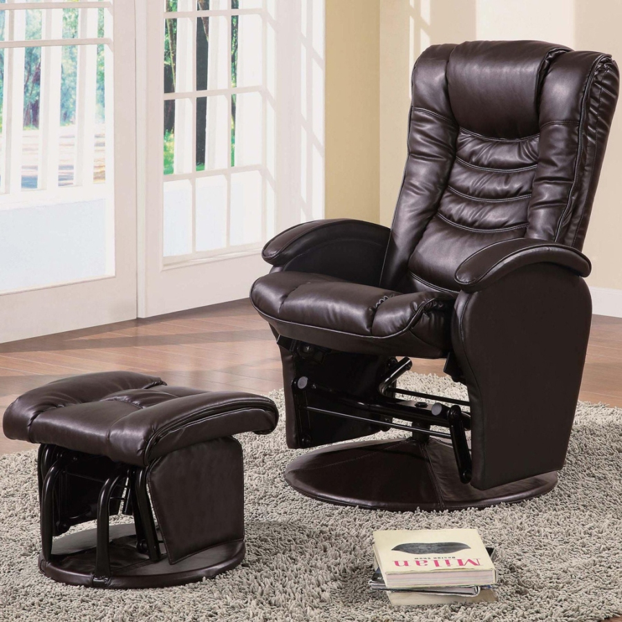 Image of: reclining office chair with footrest