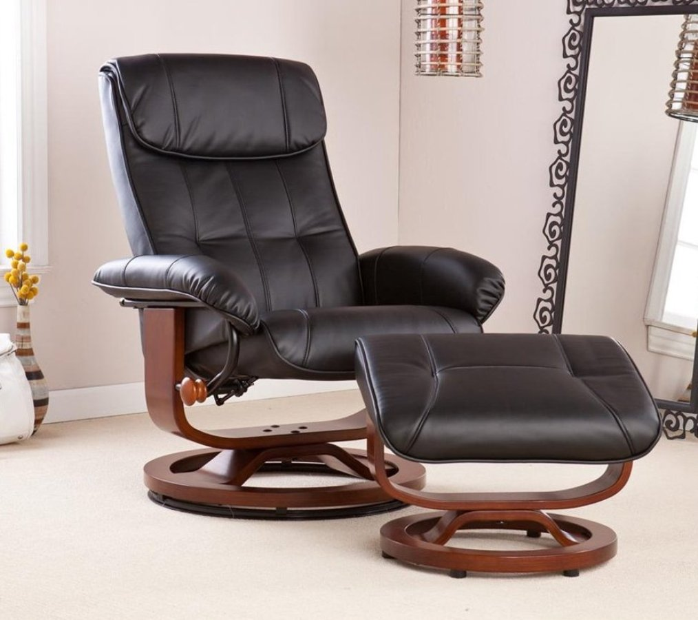 Image of: reclining office chair with leg rest