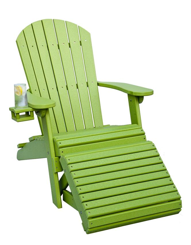 Reclining and Folding Adirondack Chair