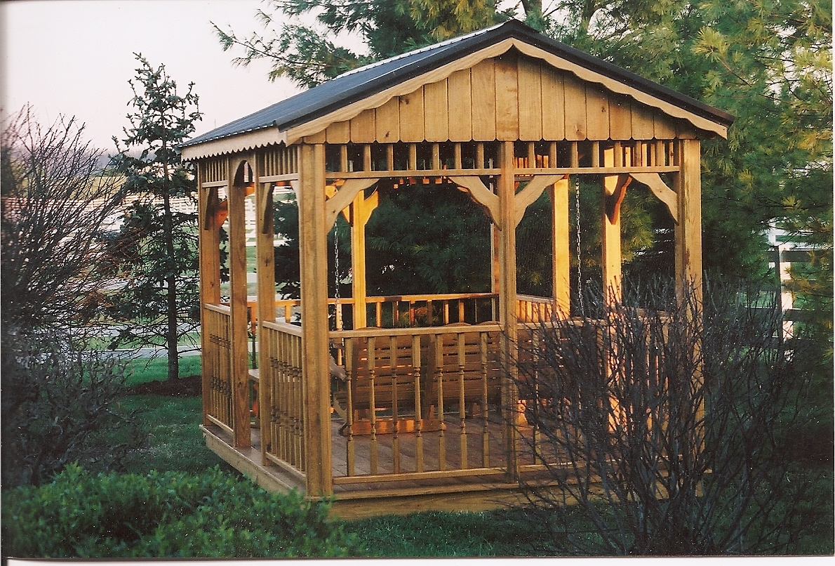 Image of: Rectangular Gazebo Backyard