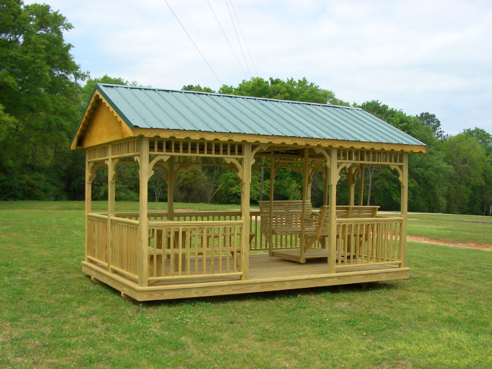 Image of: Rectangular Gazebo Garden