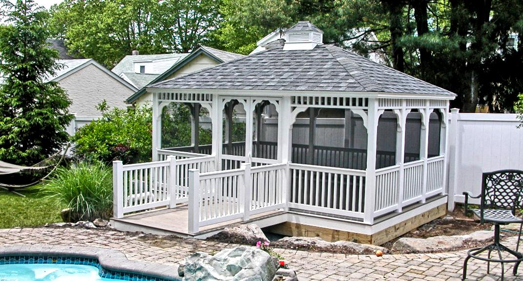 Image of: Rectangular Gazebo Pool