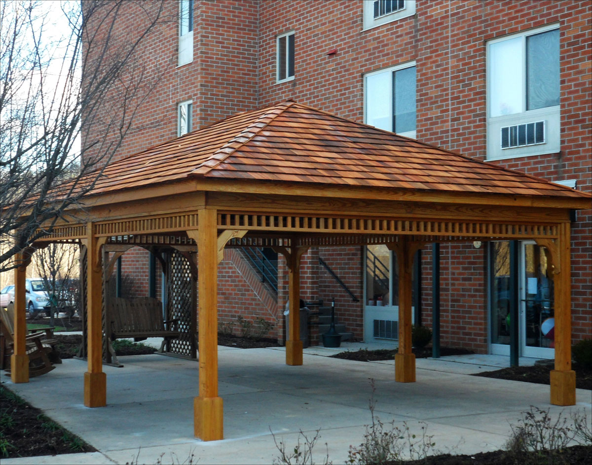 Image of: Rectangular Gazebo Wood