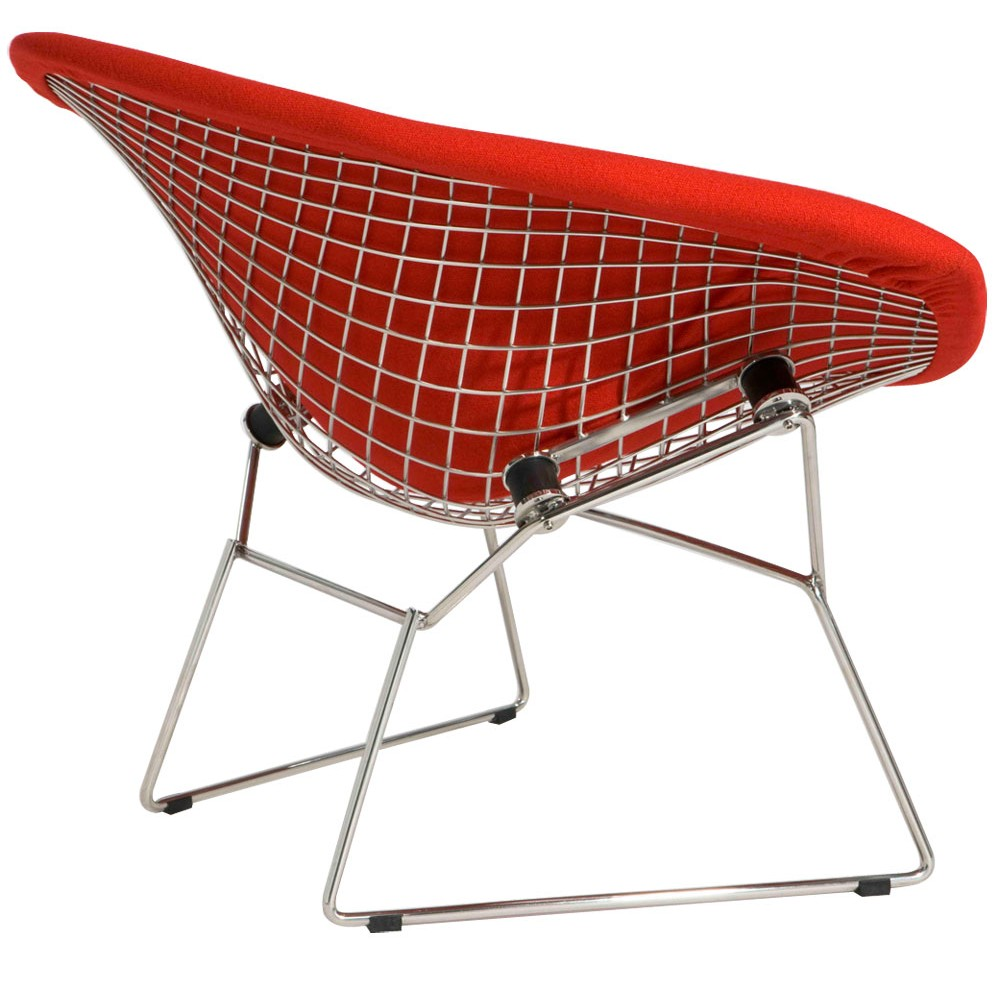 red bertoia diamond chair