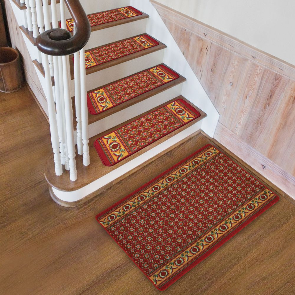 Image of: red carpet stair treads