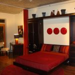 red chair sleeper bed