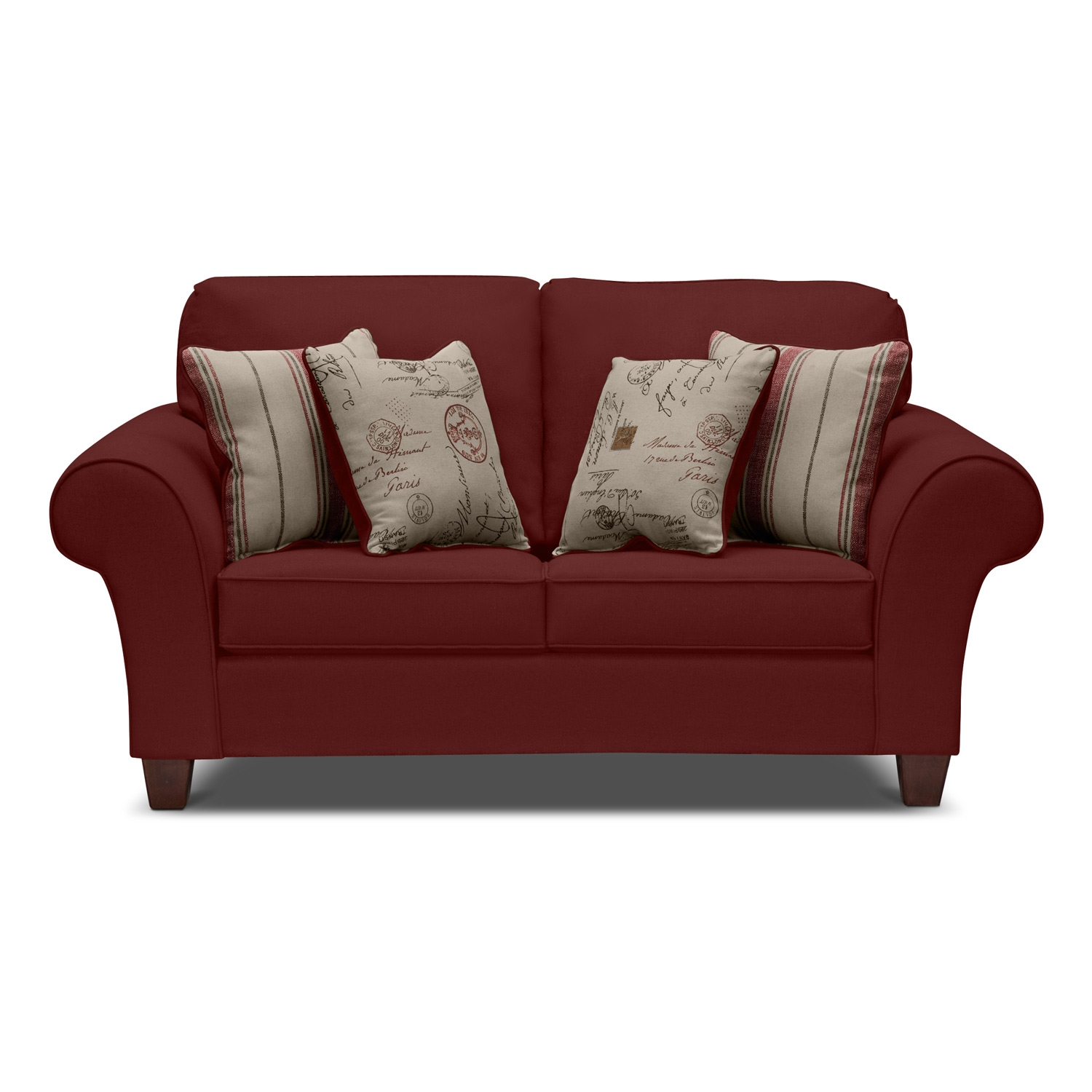 Image of: Red Color Twin Sleeper Sofa Chair