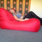 red oversized bean bag chairs