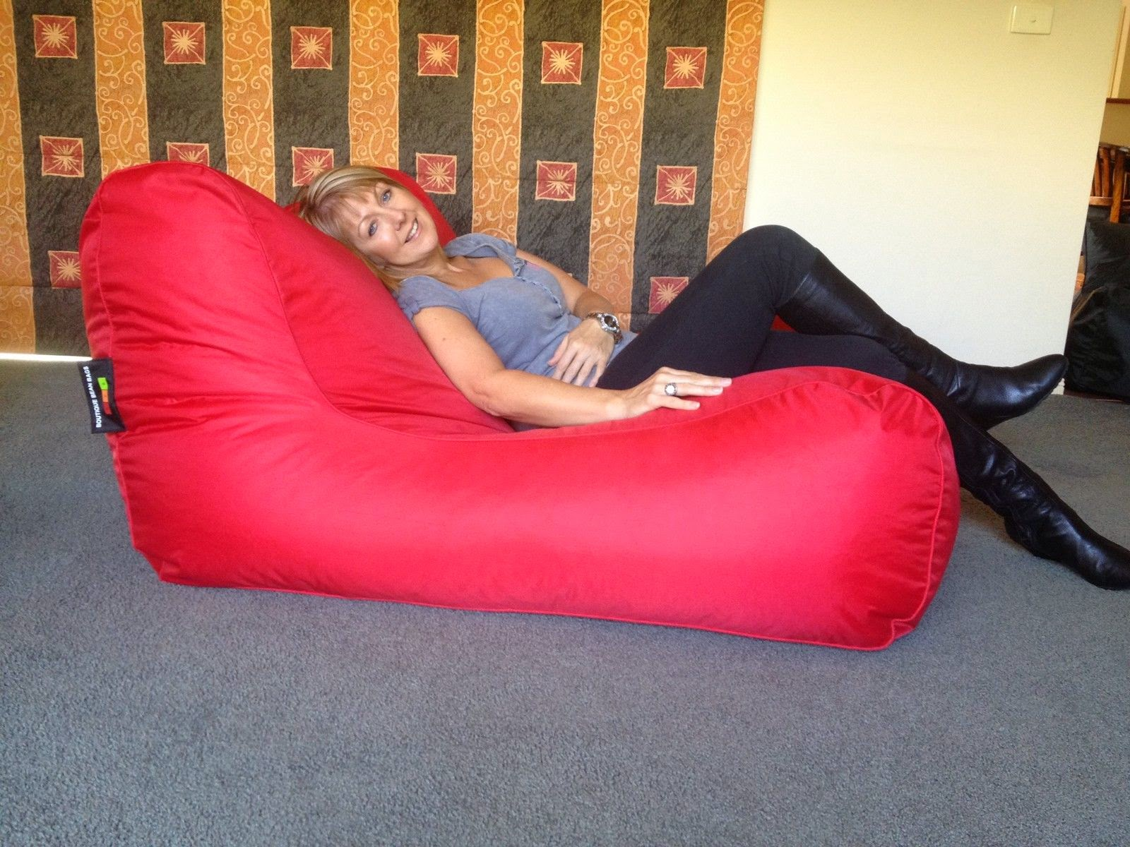 Image of: red oversized bean bag chairs