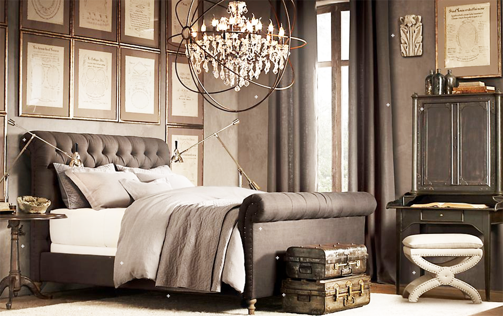 Image of: Restoration Hardware Bedroom Sconces