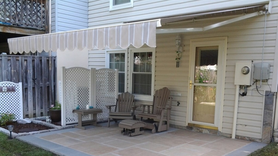 Image of: Retractable Deck Awnings