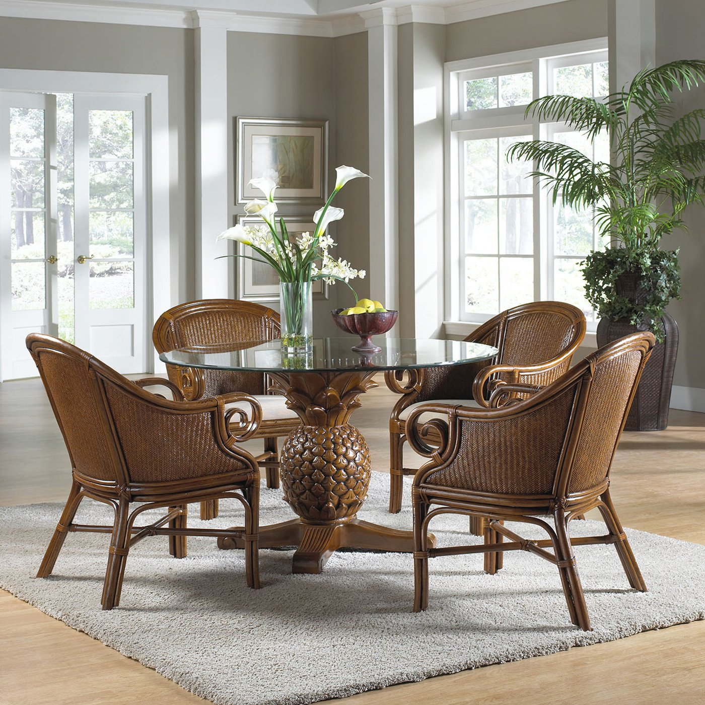 Image of: retro style of wicker dining chairs