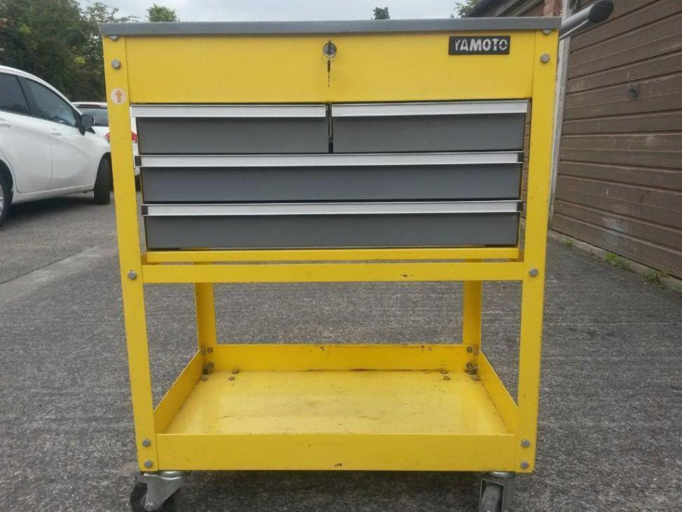 Image of: Rolling Cart With Drawers Metal