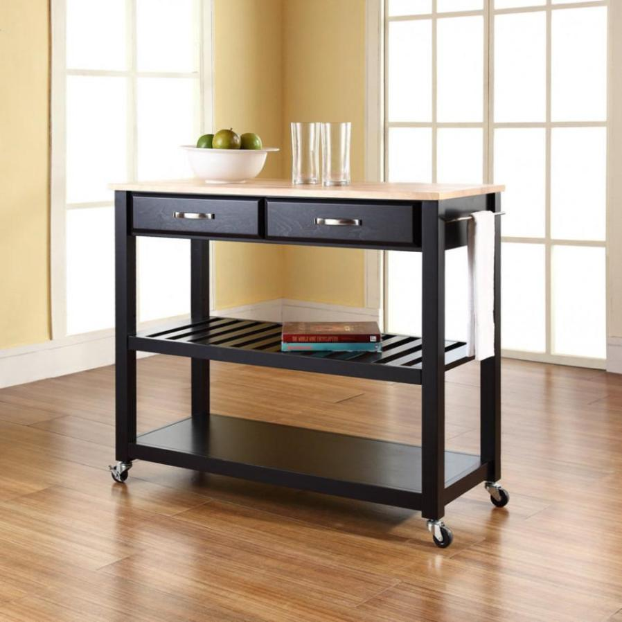 Image of: Rolling Kitchen Cart With Drawers