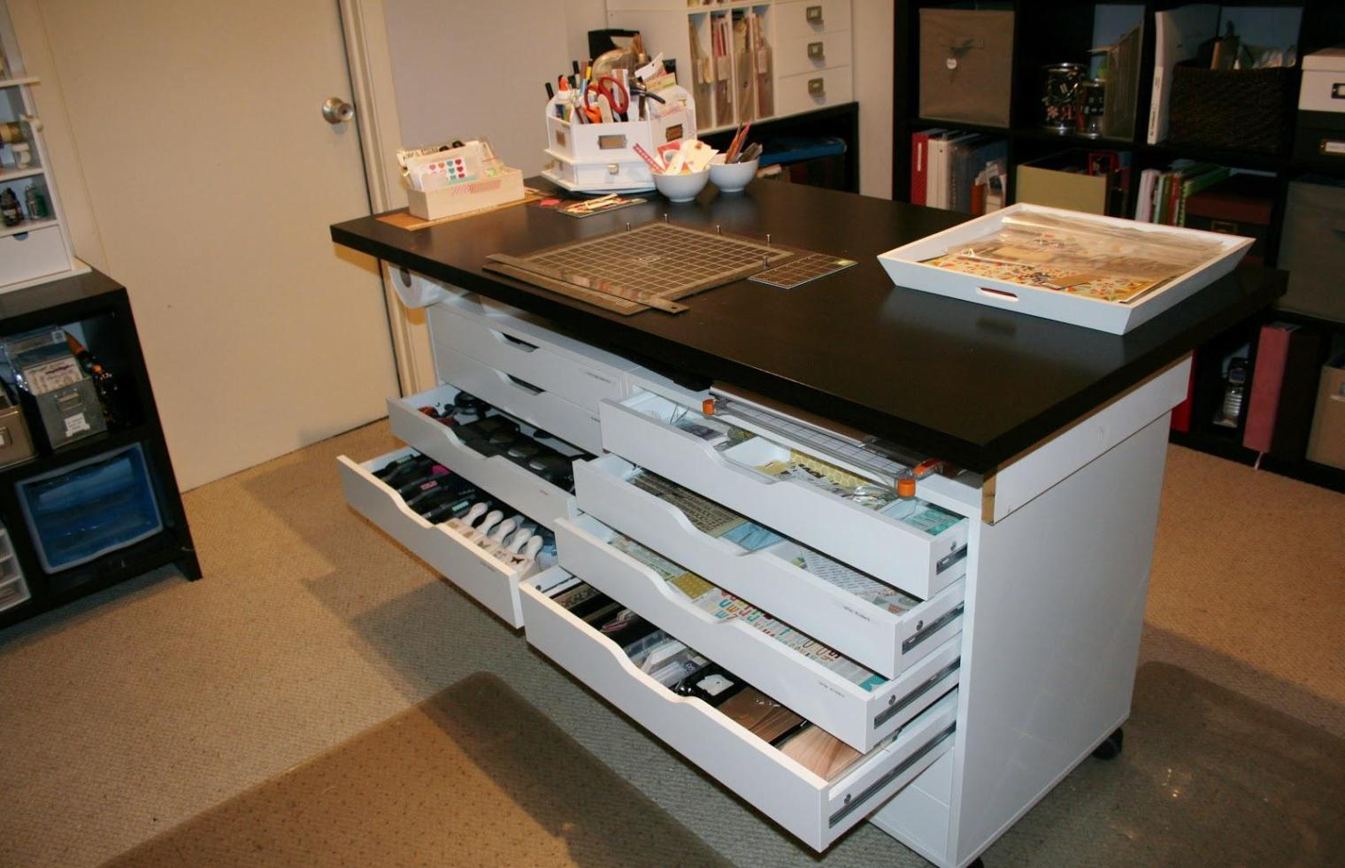 Image of: Rolling Storage Carts With Drawers