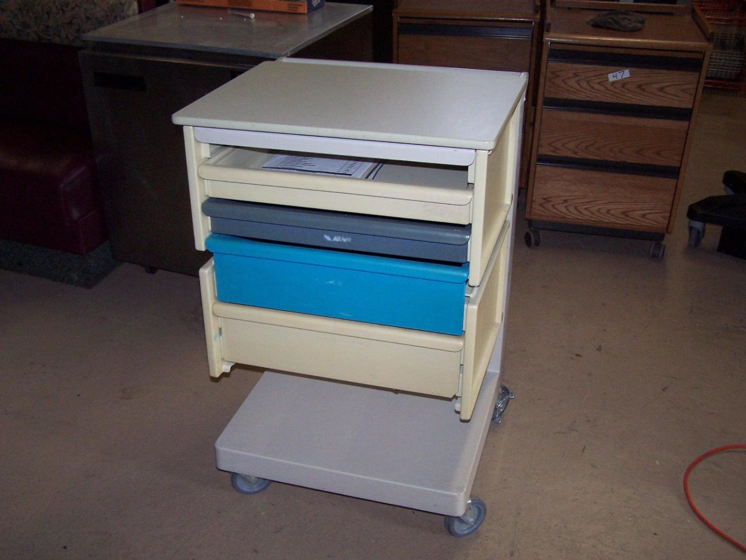 Image of: Rolling Utility Cart With Drawers