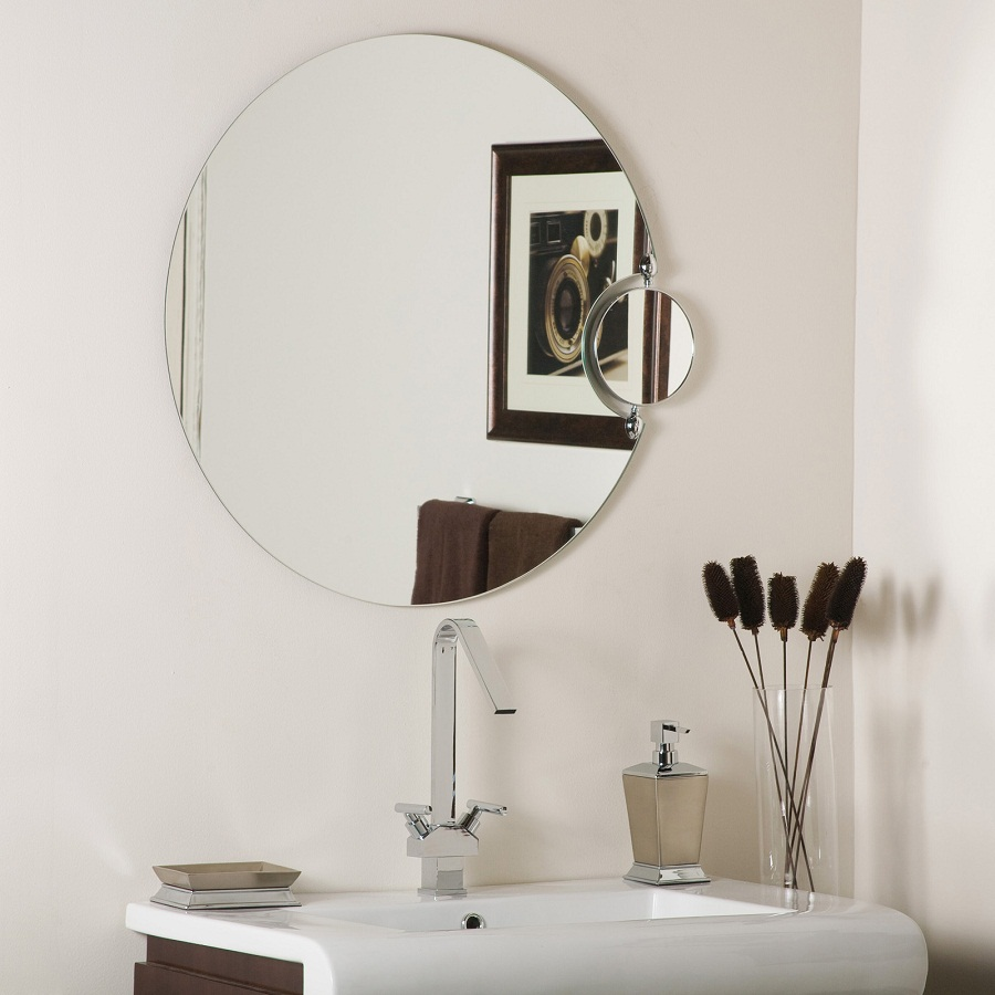 Image of: Modern Round Bathroom Mirrors