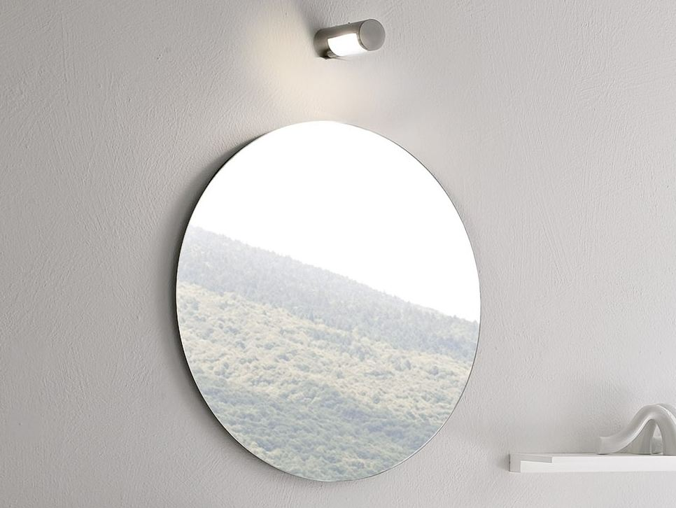 Image of: Round Bathroom Mirrors Install