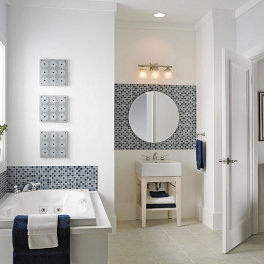 Image of: Round Bathroom Mirrors Shapes