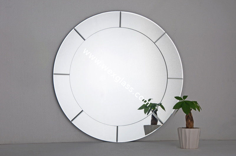 Image of: Round Bathroom Mirrors Size