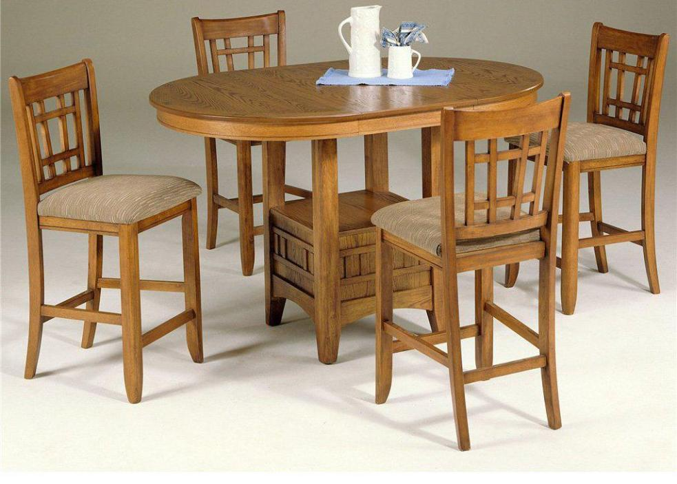 Image of: Round Pub Style Dining Sets